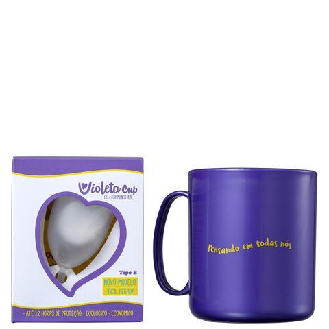 Imagem de Kit Violeta Cup Tipo B Transparente (2 Produtos)