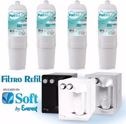 Imagem de Kit X4 Refil Filtro Purificador Água Soft Everest Slim Fit Baby Star Flat Plus