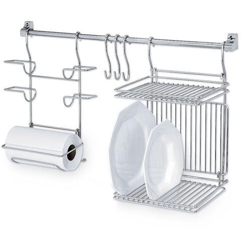 Imagem de Kitchen Set 03 Suporte Rolos Escorredor Pratos Passerini