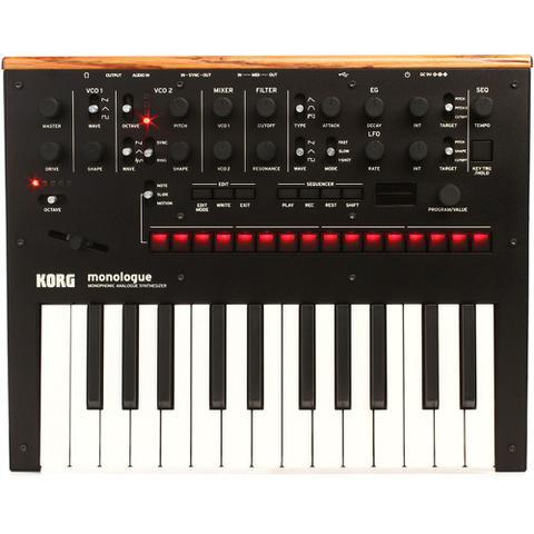 Imagem de Korg monologue bk teclado sintetizador analógico monofônico
