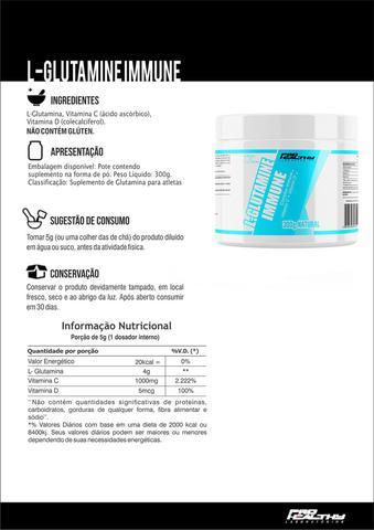 Imagem de L- Glutamina + Vitamina C, D 100% Pura - pote 300g - Pro Healthy