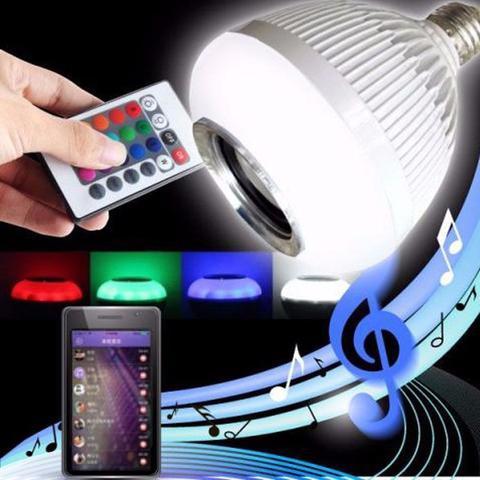 Imagem de Lâmpada Bluetooth Led 12w Music Rgb Caixa De Som