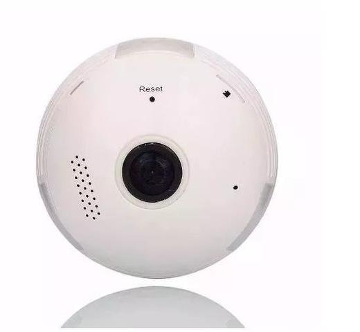 Imagem de Lâmpada Câmera Espiã 360 Panorâmica Wifi Ip Led Bivolt Microfone e Alto Falante Embutido