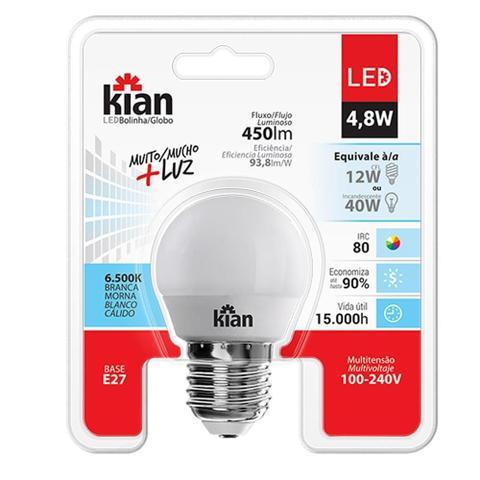 Imagem de Lâmpada de LED 4,8W 450 Lumens 6500K Base E27 Bivolt Cor: Branca
