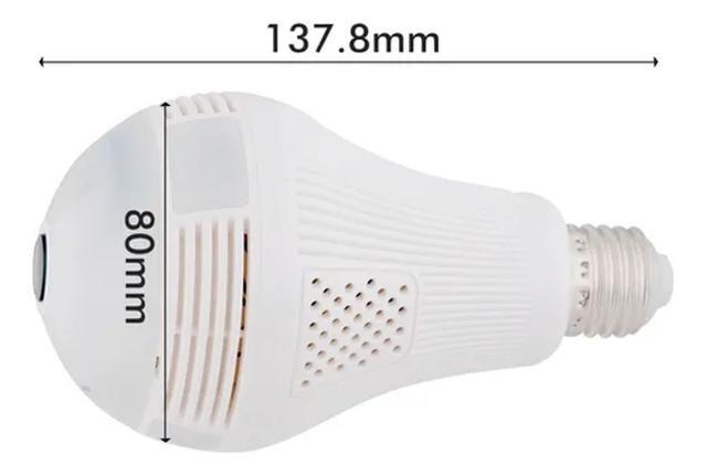 Imagem de Lâmpada Espiã Câmera Ip 360 Hd Led Wifi V380