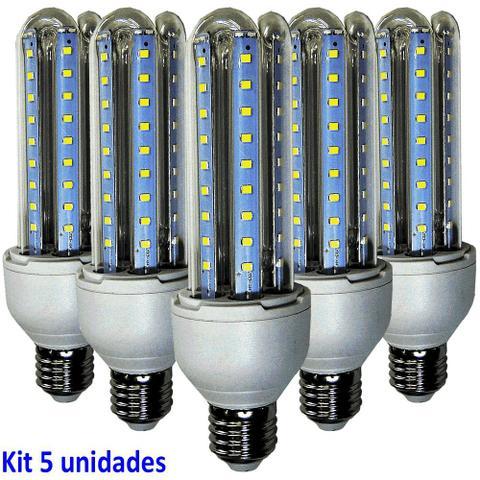 Imagem de Lâmpada Led 12W Kit 5 Unidades E27 Branco Frio 6400k Econômica Bi volt WMT2425