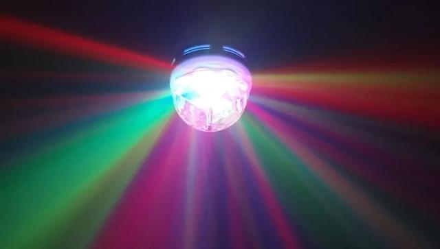 Imagem de Lampada Led Colorido Rotativa Giratória Bola Maluca Festa