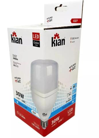 Imagem de Lâmpada Led Globe Bulbo Grande Branca 30w 6500k Bivolt 2400lm Base E27 127V a 220V Super Forte Kian
