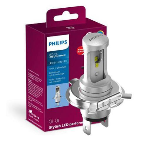 Imagem de Lâmpada Philips Moto Led Ultinon H4 Hs1 6000k Super Branca