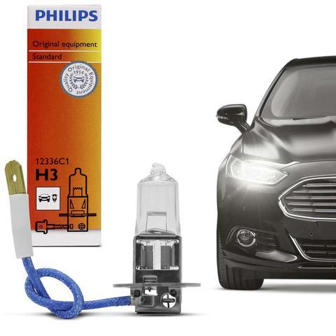 Imagem de Lâmpada Philips Premium Standard H3 4300K 55W 12V Extremamente Branca Aplicação Farol