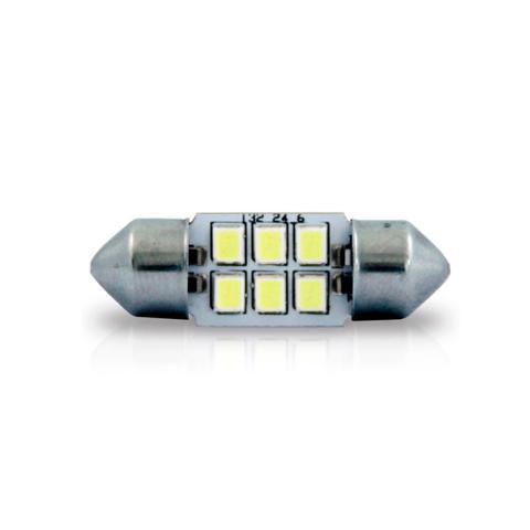 Imagem de Lâmpada tipo torpedo pequena 6 leds branco 24v 5w luz de teto luz de placa 10 pçs