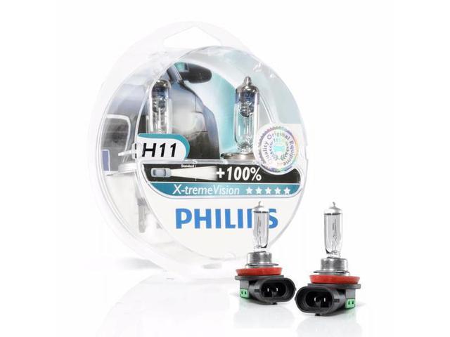 Imagem de Lâmpada Xtreme Vision H11 Dobro de Iluminação Philips 3350K