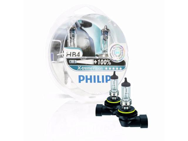 Imagem de Lâmpada Xtreme Vision HB4 9006 Dobro de Iluminação Philips 3350K