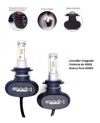 Imagem de Lampadas Ultra Led H4 Prisma 2006 a 2012 Farol Alto e  Baixo