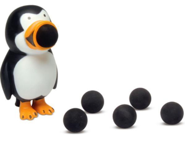Imagem de Lançador de Bolas de Espuma - Animal Poppers Pinguim caixa danificada - DTC