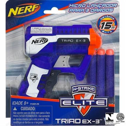 376b7d370b Lançador De Dardos Nerf N-Strike Elite A3845 Hasbro - Lançadores de ...