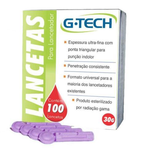 Imagem de Lancetas para Caneta Lancetadora G-Tech LAN3010G 30g - Embalagem com 100 unidades