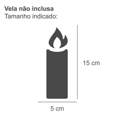 Imagem de Lanterna Decorativa em Vidro com Porta Vela 26,5cmx10cm Isadora Design Laranja