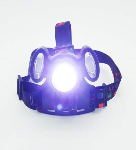 Imagem de Lanterna Farol Bike Bicicleta de Cabeça  Recarregável C/Zoom 3 LED