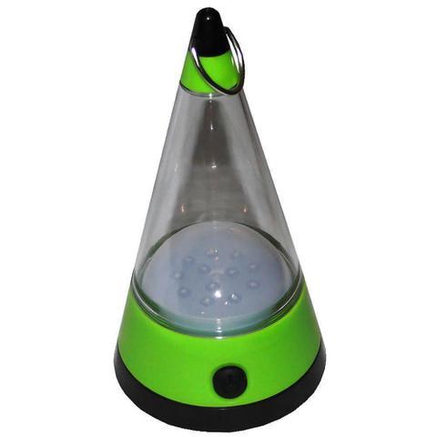 Imagem de Lanterna Lampião Camping de Pendurar a Pilhas 12 LEDs WMTLL80091 Verde