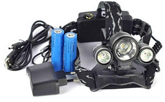 Imagem de Lanterna Profissional 3 Leds Bicicleta E Serviços P/cabeça