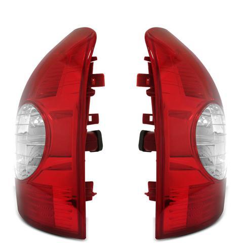 Imagem de Lanterna Traseira Clio Hatch 2003 a 2011 Serve 2000 a 2002 Bicolor Cristal