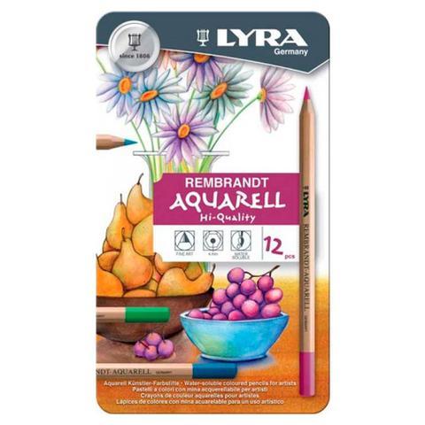 Imagem de Lápis Aquarelável Rembradt Lyra com 12 Cores - 2011120