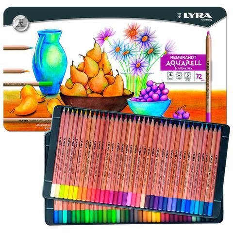 Imagem de Lápis Aquarelável Rembradt Lyra com 72 Cores - 2011720