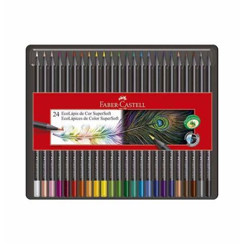 Imagem de Lapis cor inteiro c/24 cores eco supersoft  / un / faber