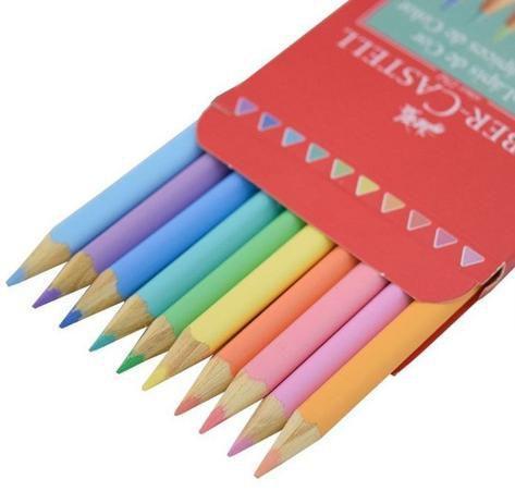 Imagem de Lapis de cor 10 cores pastel faber castell