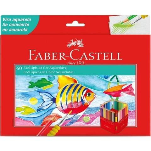 Imagem de Lápis De Cor 60 Ecolápis Aquarelavel - Faber Castell