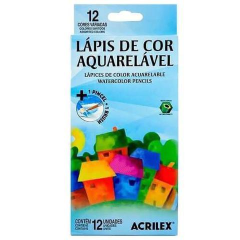 Imagem de Lápis de cor acrilex 12 cores aquarelável