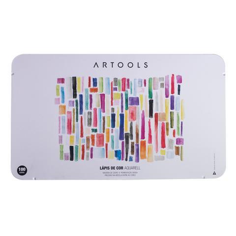 Imagem de Lapis de Cor Aquarelavel 100 Cores Artools Estojo com Pincel