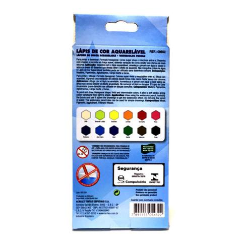 Imagem de Lápis de cor aquarelável 12 cores acrilex