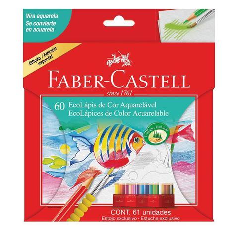 Imagem de Lapis de Cor Aquarelavel 60 Cores com 1 Estojo e 1 Pincel Faber Castell