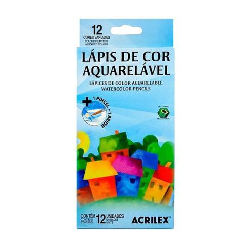Imagem de Lápis de Cor Aquarelável Acrilex 12 Cores 09652