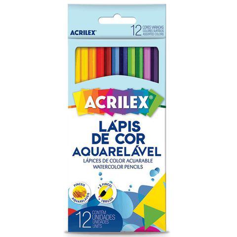 Imagem de Lápis de Cor Aquarelável Acrilex - 12 Cores