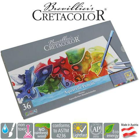Imagem de Lápis de Cor Aquarelável Cretacolor Brevilliers Marino Estojo Metal 036 Cores 24036
