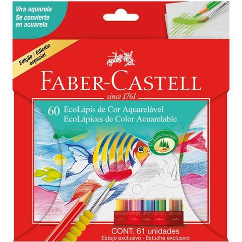 Imagem de Lapis De Cor Aquarelavel Ecolapis 60 Cores  Faber-Castell