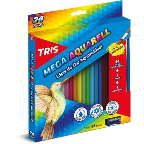 Imagem de Lapis de cor aquarelavel mega aquarell 24 cores unidade