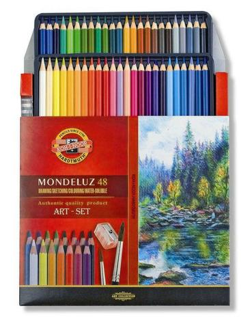Imagem de Lapis de cor aquarelavel mondeluz com 48 cores  kn0037130048