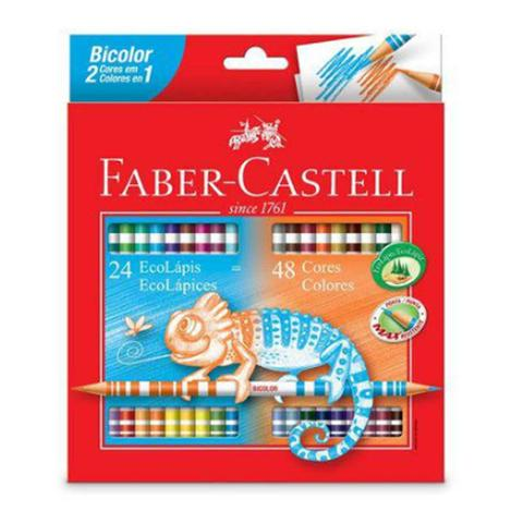 Imagem de Lápis de Cor Bicolor 24 Lápis 48 Cores Faber Castell