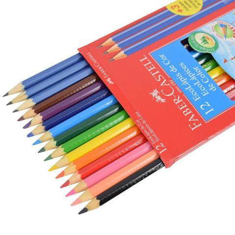 Imagem de Lapis de cor c/ 12 cores + 3 lapis de escrever faber castell