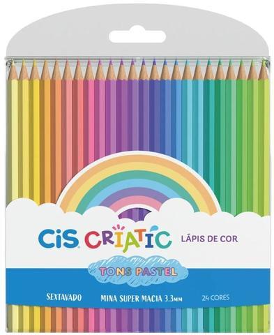 Imagem de Lapis De Cor C/24 Cores Pastel Criatic Cis