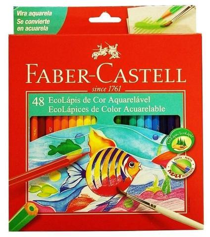 Imagem de Lápis De Cor C/ 48 Aquarelável Faber Castell