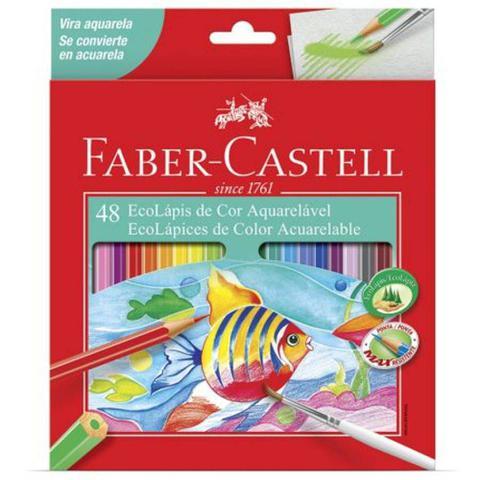 Imagem de Lapis de cor faber-castell 48 cores aquarelavel
