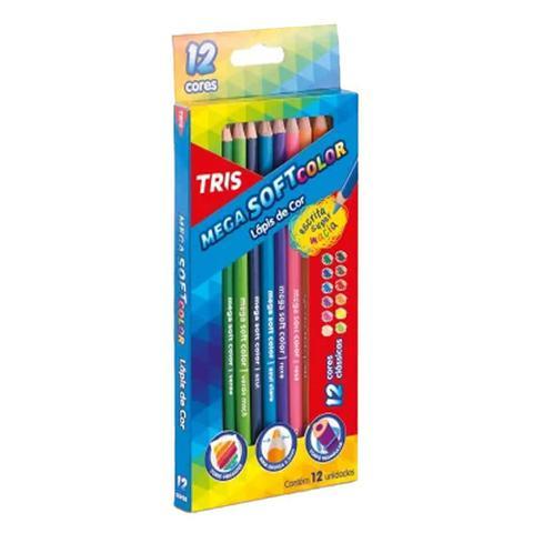 Imagem de Lapis de Cor Mega Soft Color 12 Cores Tris