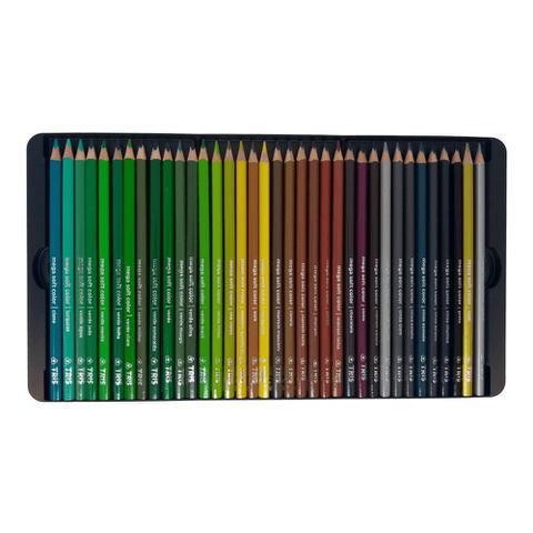Imagem de Lapis de Cor Mega Soft Color 72 Cores com Estojo Lata Tris
