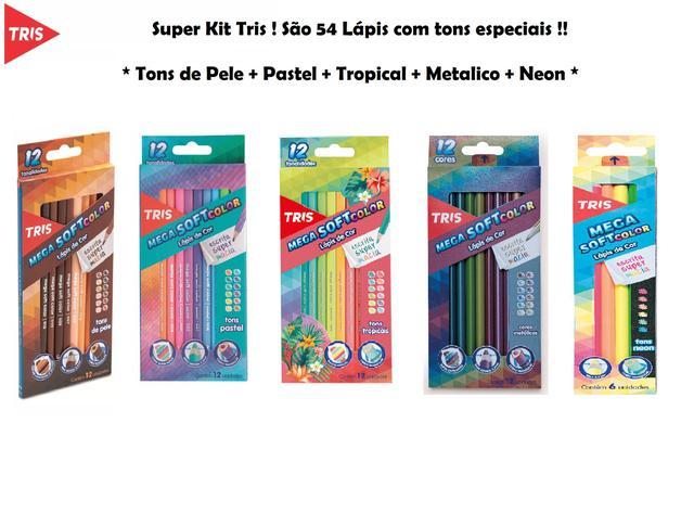 Imagem de Lápis De Cor Tris Pastel + Metal + Pele + Neon + Tropic
