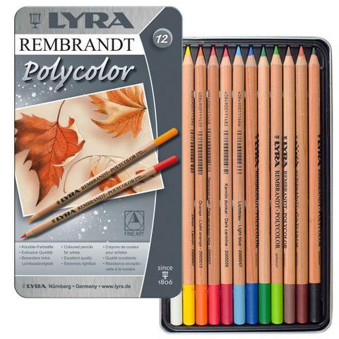 Imagem de Lápis Polycolor Rembradt Lyra com 12 Cores - 2001120